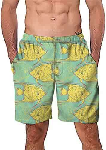08a78a4cc0 One Nice Mens Swim Trunks Quick Dry Beach Wear Shorts Mesh Lining Swimwear  Bathing Suits -
