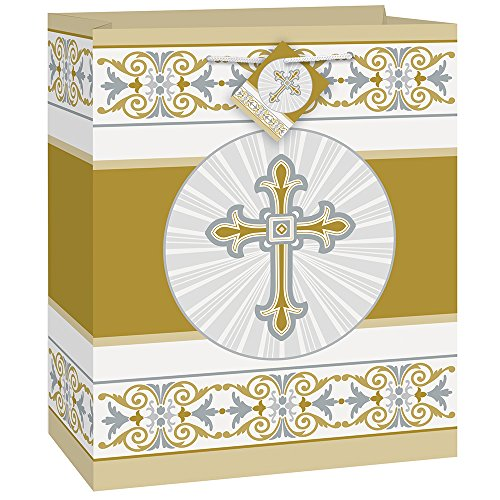 Gold & Silver Radiant Cross Religious Gift -