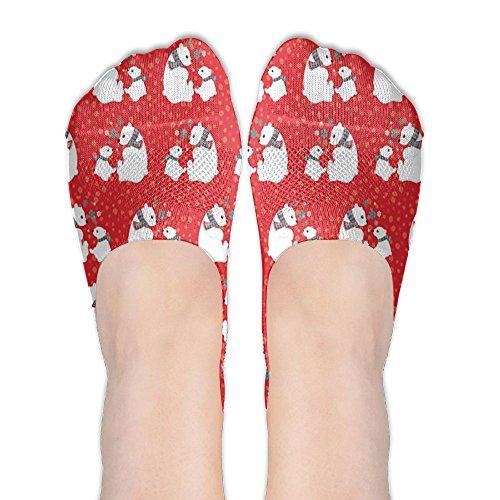 Christmas Polar Bears Body Stockings Boat Liners Low Cut Socks No Show Socks Casual Liner Socks Shoes