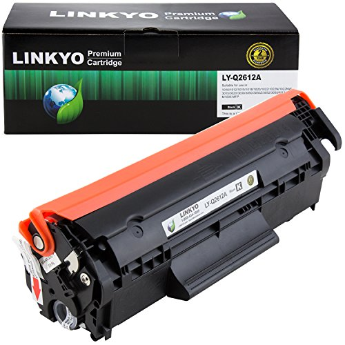 LINKYO Compatible Toner Cartridge Replacement for HP 12A Q2612A - Q2612a Hp Toner