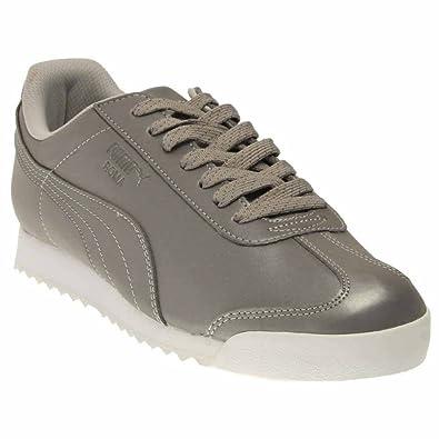Puma Men's Roma Reflective Silver Metallic/Black Ankle-High Synthetic  Fashion Sneaker - 11.5