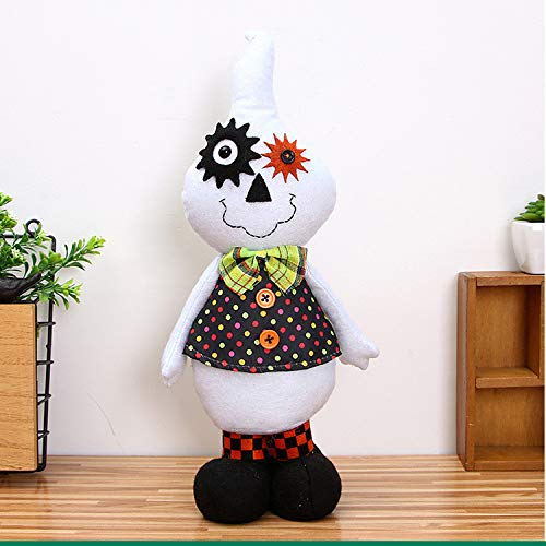 HomeMals Halloween Decoration Dolls Plush Doll Festive Party Supplies Favors for Kids Gift Home Yard Bedroom Ornaments White ()