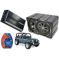 Jeep Wrangler Kicker 10 CVX10 & PXA500.1 Amp Car Audio Sub Box Enclosure New