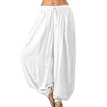 Amazon.com: AMEOY Women Casual Baggy Boho Gypsy Yoga Aladdin ...