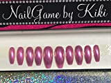 Barbie Pink Mermaid Nails Hand Designed Press-on Glue-on Nails Custom Nails False Nails Fake Nails Coffin Nails Handmade Nail Set