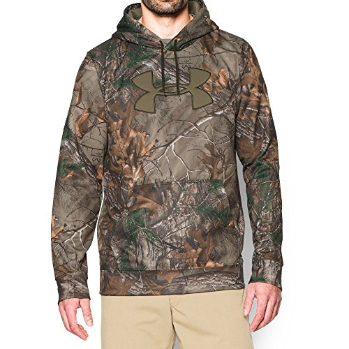 Under Armour Men's Storm Camo Big Logo Hoodie, Realtree AP-Xtra (946), Large (Blue Camo Under Armour Sweatshirt)