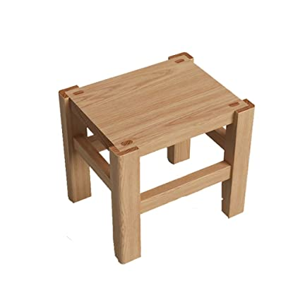Admirable Amazon Com Gaoyang Solid Wood Stool Wooden Footstool Machost Co Dining Chair Design Ideas Machostcouk