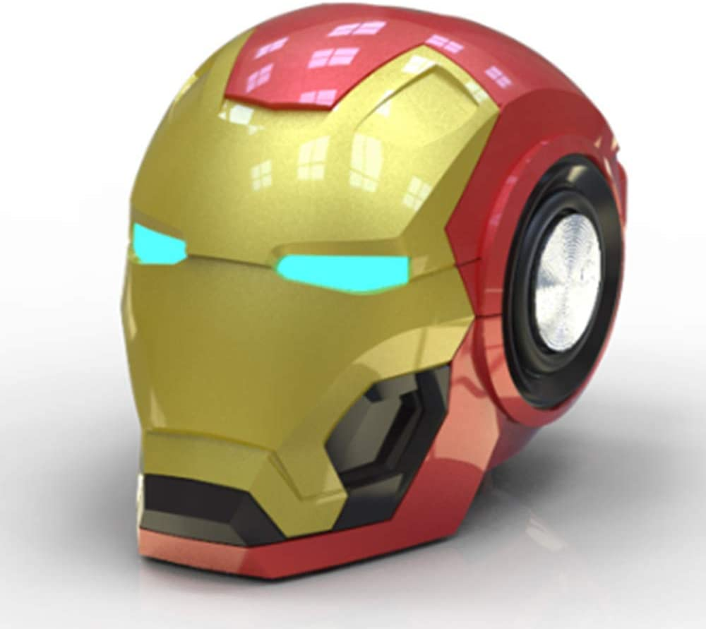 Altavoz Bluetooth Minimini Altavoz Inalámbrico Iron Man Altavoces Portátiles Potentes Regalo Novedoso Música Práctica De Radio