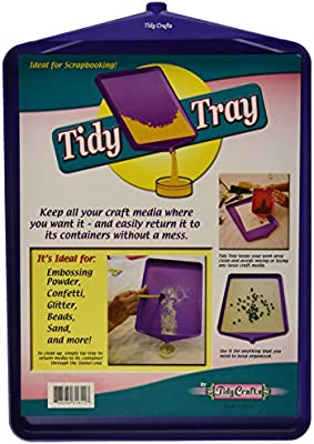 2-Pack 6 by 8-Inch and 10 by 14-Inch Tidy Crafts Tidy Tray Combo