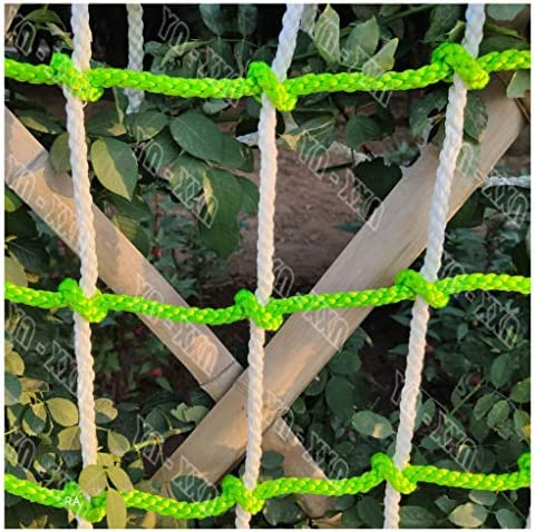 クライミングネット、大人の子供屋外登りナイロンツリーハウススイングラダー保護ロープネット 競馬場フェンスバルコニー階段安全ネット 負荷固定、貨物ロープはしごトラック重いデッキネット (Size : 2*14M(6.6*42ft))