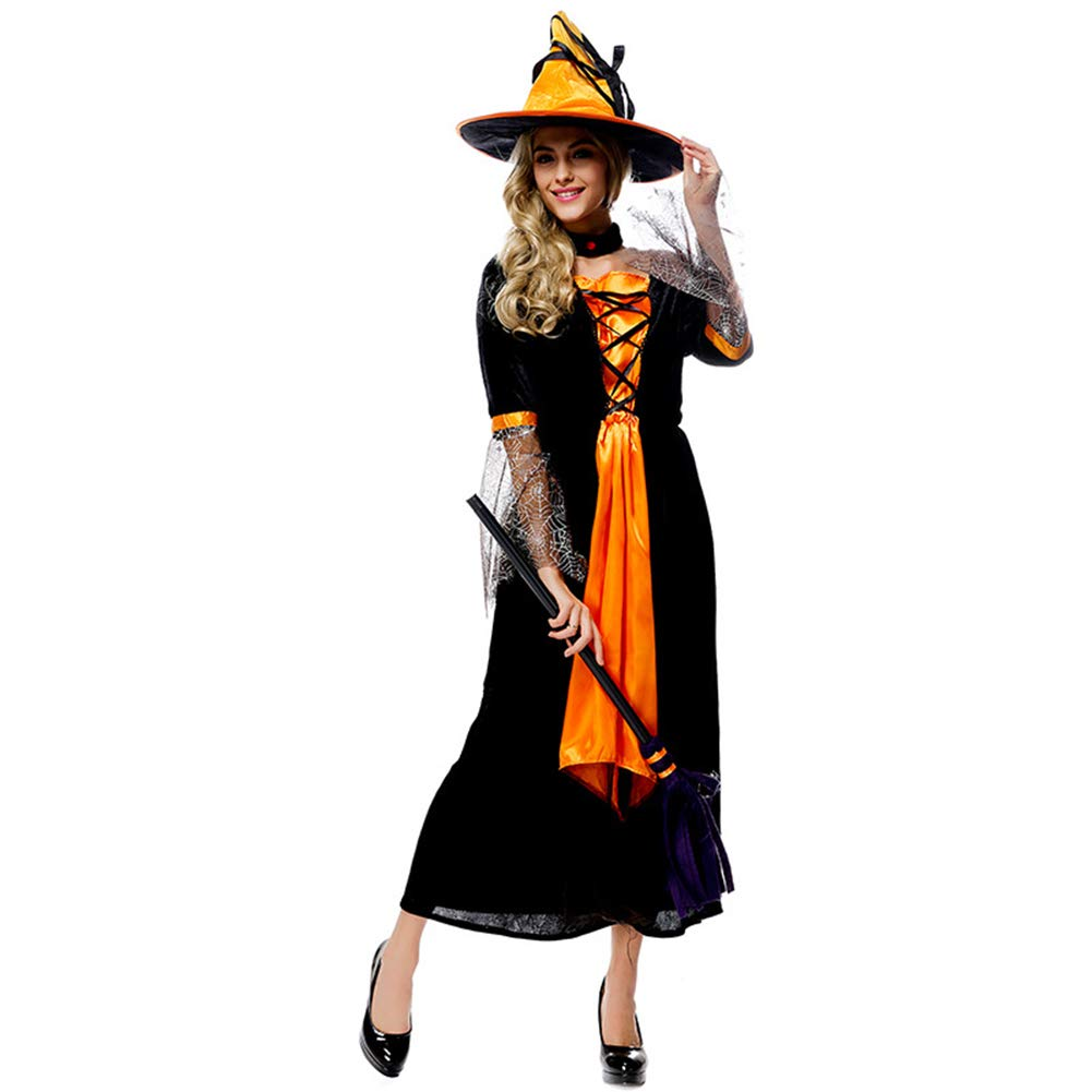 Halloween Costume Adulto Strega Costume Bar Cosplay Party Prestazioni Servizio,Natural,L