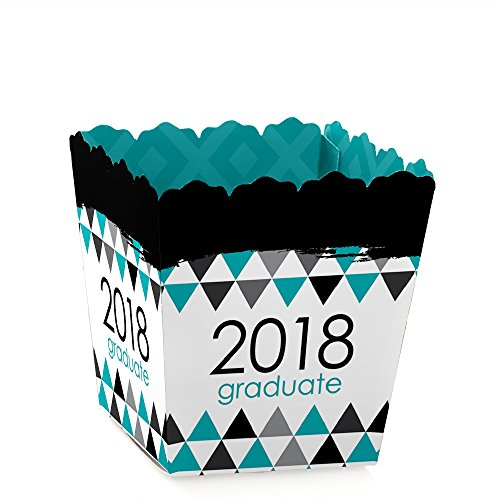 Teal Grad - Best is Yet to Come - Candy Boxes Turquoise 2018 Graduation Party Favors (Set of 12)