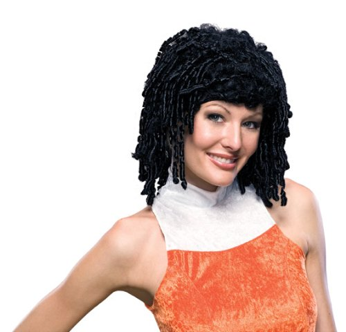(Rubie's Costume Curly Cutie Wig, Black, One)