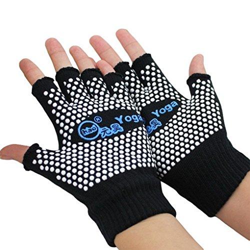 acme Unisex Women Men Sports Fingerless Exercise Half Finger Non Slip Grip Yoga Pilates -
