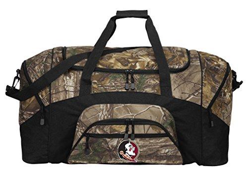 Large RealTree Camo Florida State Duffel Bag Or Camo FSU Gym Bag by Broad Bay