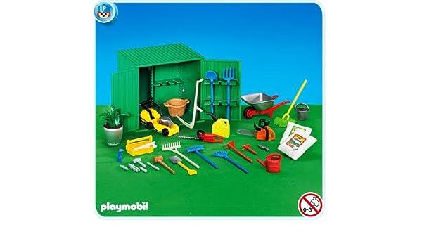 PLAYMOBIL 7490 - Cobertizo con herramientas: Amazon.es ...