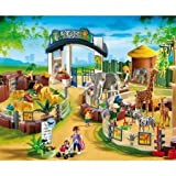 PLAYMOBIL Large Zoo with Entrance, Baby & Kids Zone
