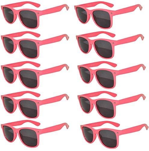 Vintage Retro Eyeglasses Sunglasses Smoke Lens 10 Pack Colored Colors Frame OWL (Rose_Pink_10_Pairs, PC - Sunglasses Vintage Colored Rose