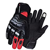 AINIYF Full Finger Motorcycle Gloves | Winter Outdoor Sports Smart Gloves Waterproof Touch Screen For Cold And Warm (Color : Red)