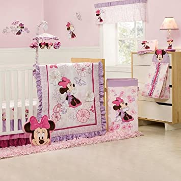 Amazon.com : Kidsline Butterfly Dreams Minnie Mouse Crib Baby ... : minnie mouse cot quilt - Adamdwight.com