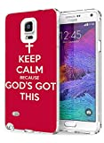 Samsung Galaxy Note 4 Cases and Covers Snap on Protective Keep Calm Because God's Got This