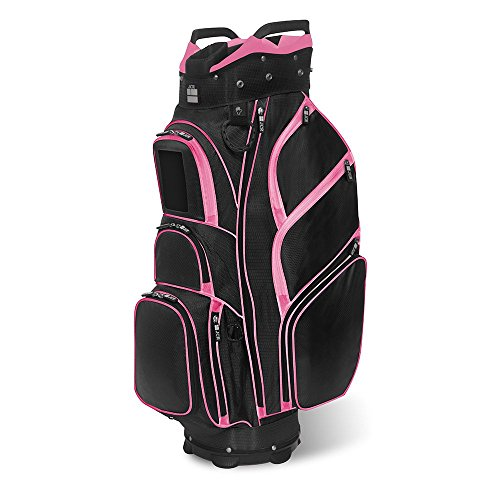 JCR Golf 650016 TL650 Women's Golf Cart Bag, Black/Pink Womens Golf Cart Bag