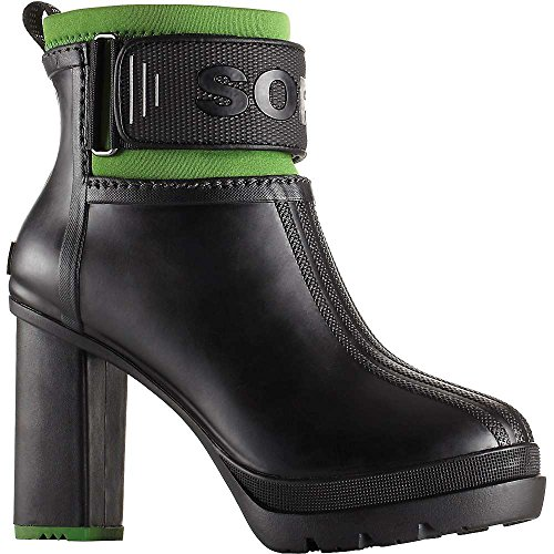 Sorel Clean Heel Black III Green Women's Booties Rubber Medina rPprAq