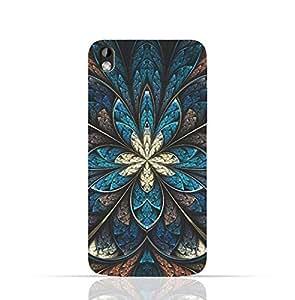 HTC Desire 816 TPU Silicone Case with Fractal Flower Pattern 3 Design Design.