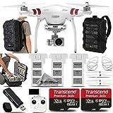 DJI Phantom 3 Standard Quadcopter with 4K Camera and 3-Axis Gimbal. Saving Kit Includes: 2 Extra DJI Batteries + 2x 32GB Class 10 Memory Card + DJI Propeller Guard + CS400 Backpack + Card Reader