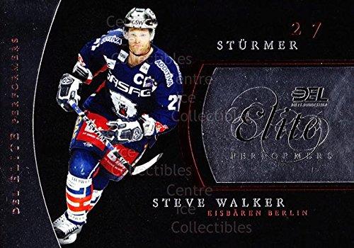 (CI) Steve Walker Hockey Card 2009-10 German DEL Premium Elite Performers 1 Steve Walker (City 2009 Single Elite)