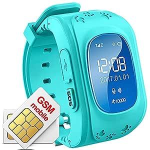 Niños Reloj De Pulsera Smartwatch GPS Tracker Seguimiento de ubicación de Menor Haz Tiempo Real al Agua Niños Smart Reloj Q50