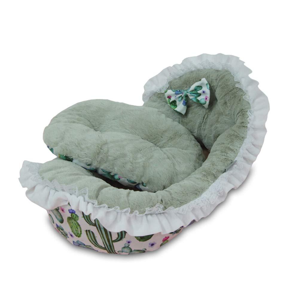 C Jian E  Pet Nest Kennel Pet Nest Cat Litter Cotton Nest Bmeiji Doll Than Bear Teddy Kennel British Short Warm and Comfortable Princess Bed Dog Supplies  -  (color   C)
