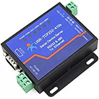 Serial RS232 RS485 to Ethernet TCP/IP Server Httpd Client/Modbus TCP/DHCP