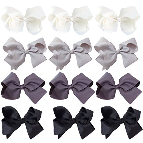ScarvesMe 12pc Boutique Baby Girls Teens Women Solid 6