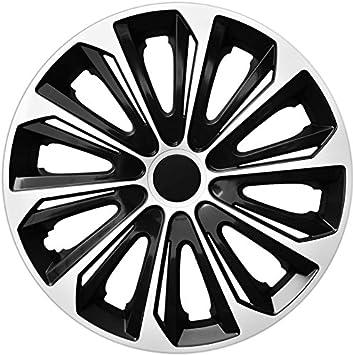 Tapacubos 15 pulgadas Strong negro plata, 4 unidades, nuevo: Amazon.es: Coche y moto