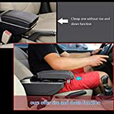 ALLYARD for Toyota VIOS 2014-2018 Luxury Car Center Console Armrest Box Cover Armrest Pillow Cushion Built-in LED Light Car Storage Organizer Accessories Gray