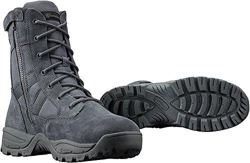 Smith & Wesson Breach 2.0 Men's Tactical Waterproof Side-Zip Boots (8, Gunmetal Grey)
