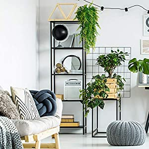2 Pcs Artificial Plants Vines Boston Ferns Persian Greenery Rattan Fake Hanging Plant Faux Hanging Fern Flowers Vine Outdoor UV Resistant Plastic Plants for Wall Indoor 4