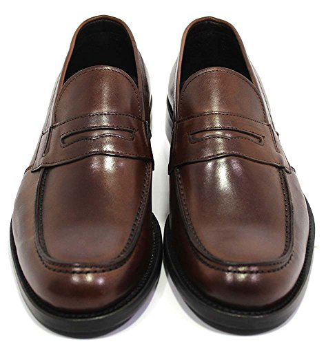 Scarpe uomo Made in Italy mod. Mocassino Mazzini Brown TG 41