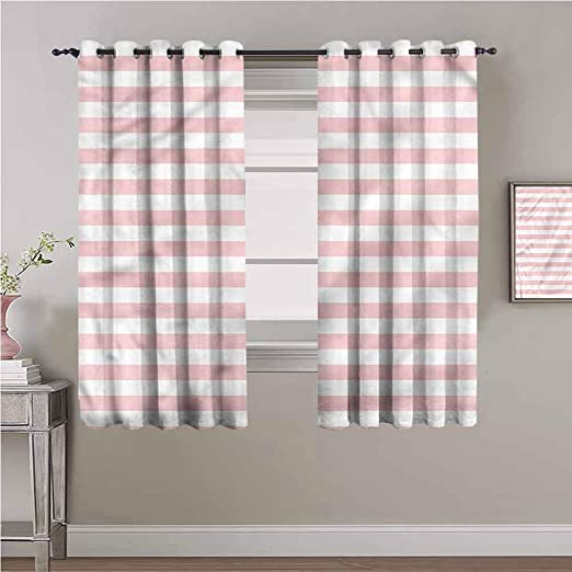 Amazon.com: Homrkey Blush Heat Insulation Curtain Pastel Colored ...