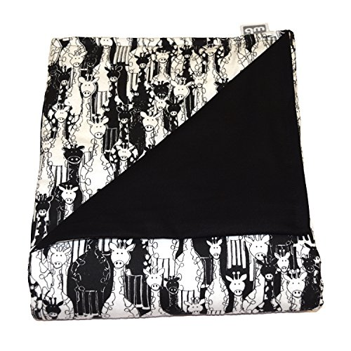 WEIGHTED BLANKETS PLUS LLC - MADE IN AMERICA - TEEN DELUXE MEDIUM WEIGHTED BLANKET - GIRAFFE - COTTON/FLANNEL (66