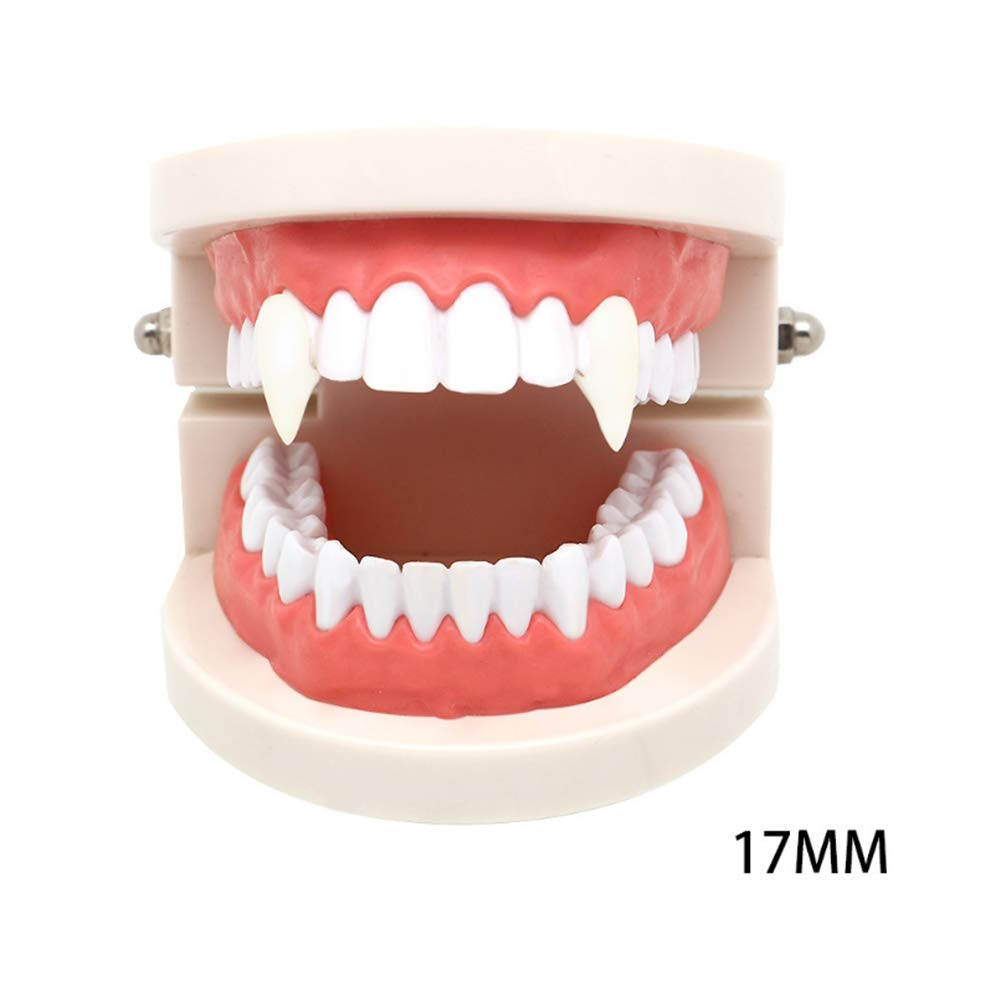 17MM Boxed 3 Pairs Vampire Teeth , Cosplay Costume Prop,Vampire Fangs Horror Halloween Party Decoration,Four Different Specifications