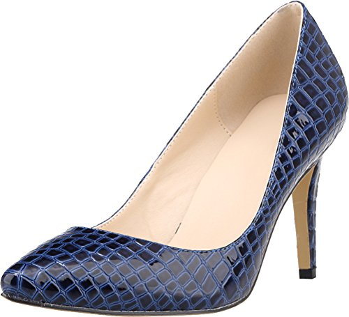 Salabobo PU Braut blau Work auf Closed Silp Party Damenmode Pumpen Hochzeit Toe rfwCqrzx