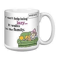 Tree-Free Greetings Extra Large 20-Ounce Ceramic Coffee Mug, Aunty Acid Walks In The Family (XM41553)