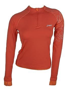 Asics - Sudadera - para mujer, color naranja, tamaño 36: Amazon.es: Ropa y accesorios