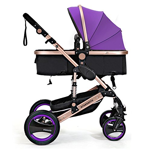 0--36 months baby stroller 2 in 1 stroller lie or damping folding light weight Two-way use four seasons (2) by wisesonle