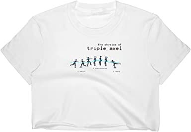 Agatha Harvey Worldwide Unisex Triple Axel Figure Ice Skating Diagram Mens Womens Short Sleeve t-Shirt