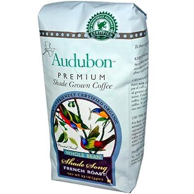 Audubon Premium Coffee, Organic Whole Bean French Roast, 12 oz (340 g)
