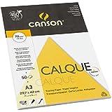 Canson Arts graphiques 200757244 Papier calque A3 29,7 x 42 cm 50 feuilles Transparent