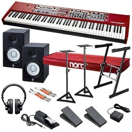 Amazon.com: Nord Stage 2 HA88 STUDIO BUNDLE w/Monitor Speakers: Musical Instruments